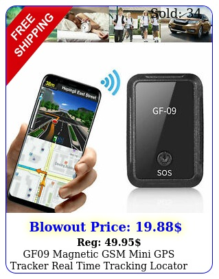 gf magnetic gsm mini gps tracker real time tracking locator device car vehicl