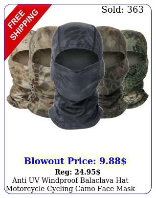 anti uv windproof balaclava hat motorcycle cycling camo face mask neck cove