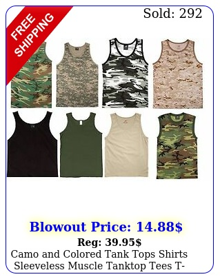 camo colored tank tops shirts sleeveless muscle tanktop tees tshirts ne