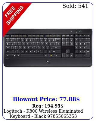 logitech k wireless illuminated keyboard blac