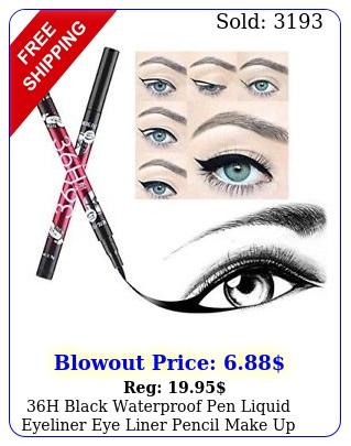 h black waterproof pen liquid eyeliner eye liner pencil make up beaut