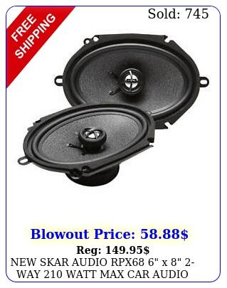 skar audio rpx x way watt max car audio coaxial speakers pai