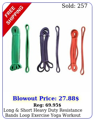 long short heavy duty resistance bands loop exercise yoga workout gym fitnes