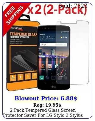 pack tempered glass screen protector saver lg stylo  stylu