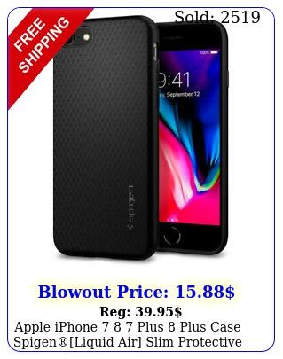apple iphone  plus plus case spigenliquid air slim protective cove