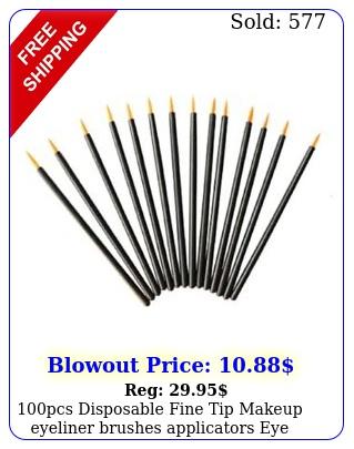 pcs disposable fine tip makeup eyeliner brushes applicators eye wands makeu