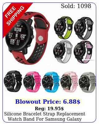 silicone bracelet strap replacement watch band samsung galaxy watch m