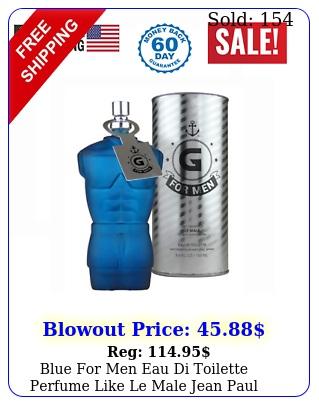 blue men eau di toilette perfume like le male jean paul gaultier oz by k