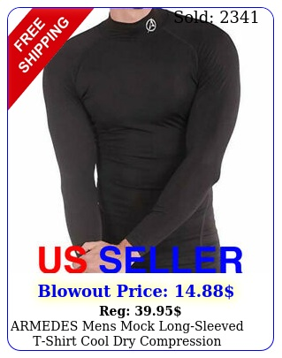 armedes mens mock longsleeved tshirt cool dry compression baselayer a