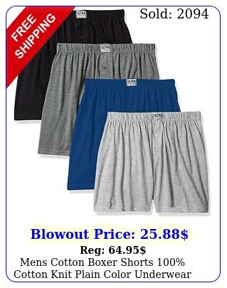 mens cotton boxer shorts cotton knit plain color underwear pack o