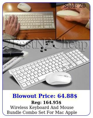 wireless keyboard mouse bundle combo set mac apple full size g sli