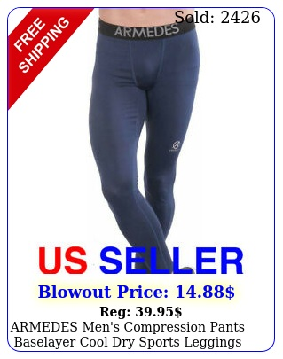 armedes men's compression pants baselayer cool dry sports leggings a