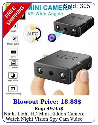night light hd mini hidden camera watch night vision spy cam video recorde