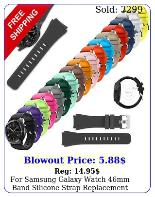 samsung galaxy watch mm band silicone strap replacement band