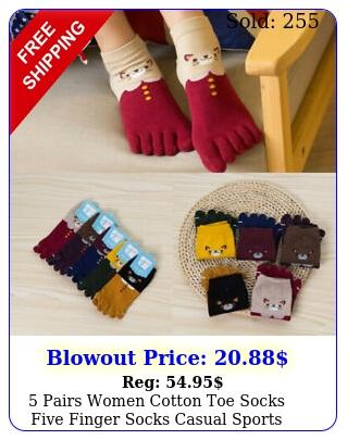 pairs women cotton toe socks five finger socks casual sports ankle low cut us