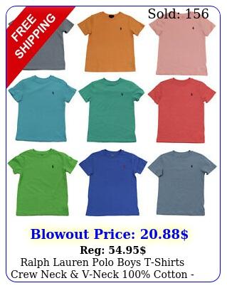 ralph lauren polo boys tshirts crew neck vneck cotton  size  nw