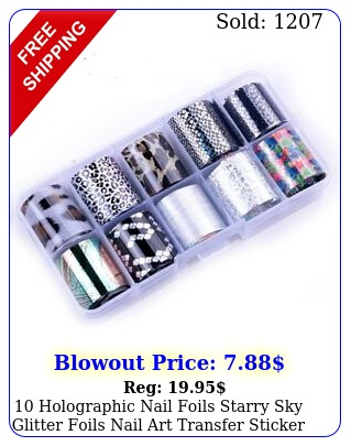 holographic nail foils starry sky glitter foils nail art transfer sticker se