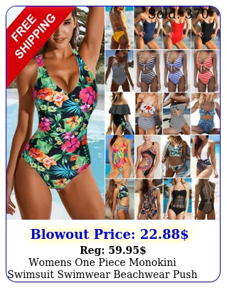 womens one piece monokini swimsuit swimwear beachwear push up bathing bikin