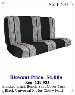 blanket truck bench seat cover pcs black universal fit chevy ford truc