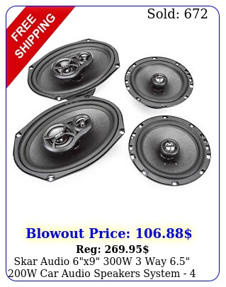 skar audio x w way  w car audio speakers system  speaker
