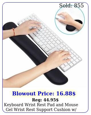 keyboard wrist rest pad mouse gel wrist rest support cushion w memory foa