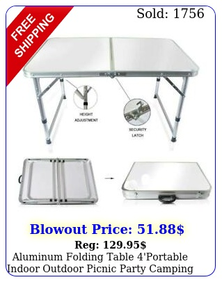 aluminum folding table 'portable indoor outdoor picnic party camping table