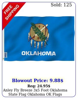 anley fly breeze x foot oklahoma state flag oklahoma ok flags polyeste