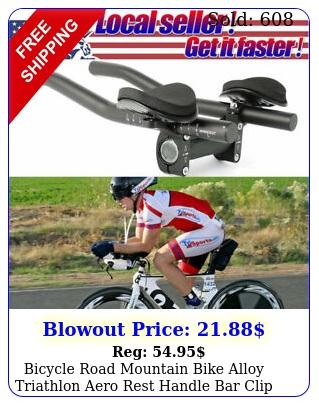 bicycle road mountain bike alloy triathlon aero rest handle bar clip on tri bar