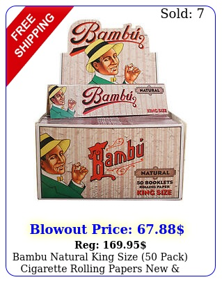 bambu natural king size pack cigarette rolling papers factory seale