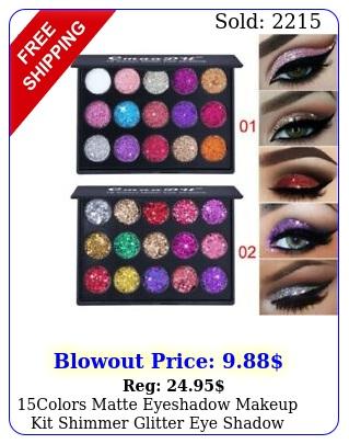 colors matte eyeshadow makeup kit shimmer glitter eye shadow powder palette u