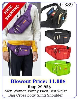 men women fanny pack belt waist bag cross body sling shoulder travel sport pouc