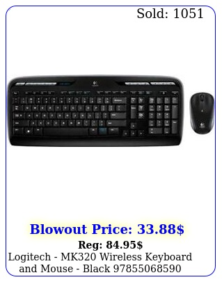 logitech mk wireless keyboard mouse blac