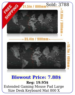 extended gaming mouse pad large size desk keyboard mat x mm x m