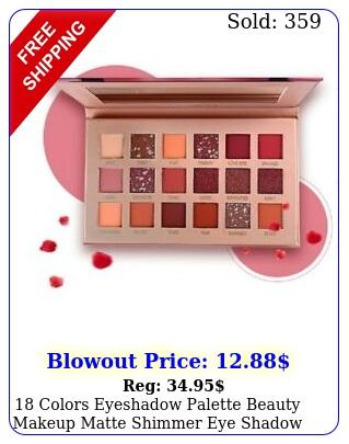 colors eyeshadow palette beauty makeup matte shimmer eye shadow cosmetic u