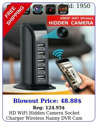 hd wifi hidden camera socket charger wireless nanny dvr cam video recorder u