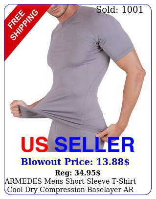 armedes mens short sleeve tshirt cool dry compression baselayer a