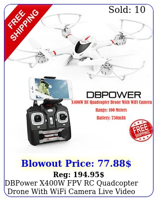 dbpower xw fpv rc quadcopter drone with wifi camera live video one key t