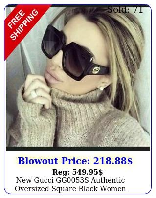 gucci ggs authentic oversized square black women sunglasse