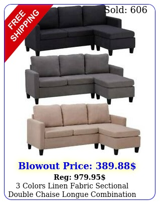 colors linen fabric sectional double chaise longue combination lshaped sof