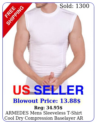 armedes mens sleeveless tshirt cool dry compression baselayer a