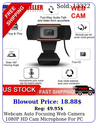webcam auto focusing web camera p hd cam microphone pc laptop deskto