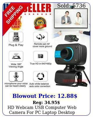 hd webcam usb computer web camera pc laptop desktop video cam w microphon