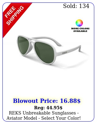 reks unbreakable sunglasses aviator model select your colo