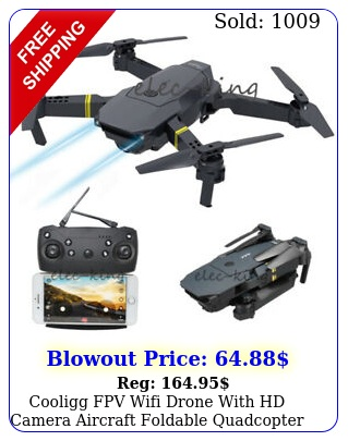 cooligg fpv wifi drone with hd camera aircraft foldable quadcopter selfie toy