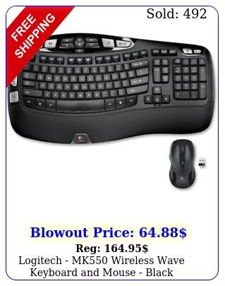 logitech mk wireless wave keyboard mouse blac