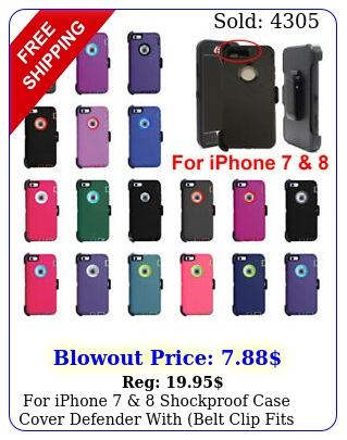 iphone  shockproof case cover defender with belt clip fits otterbo