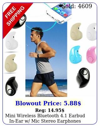 mini wireless bluetooth earbud inear w mic stereo earphones sport headse