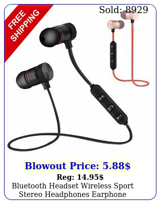 bluetooth headset wireless sport stereo headphones earphone earbuds with mic us