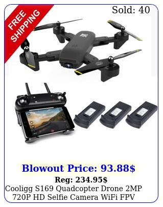 cooligg s quadcopter drone mp p hd selfie camera wifi fpv foldable ar