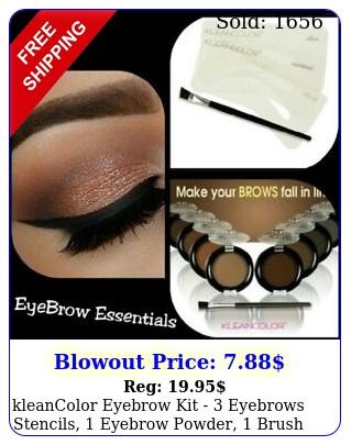 kleancolor eyebrow kit  eyebrows stencils eyebrow powder brush ki